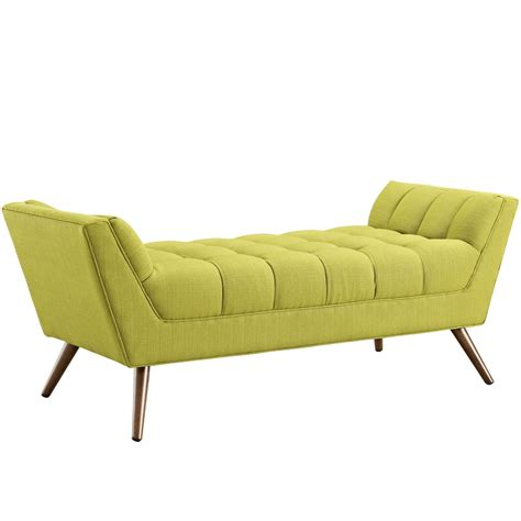 lime green bench hued bench medium modern furniture brickell collection