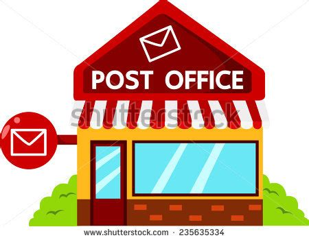 Post Office Search Illustrator Of Post Office Stock Vector 235635334