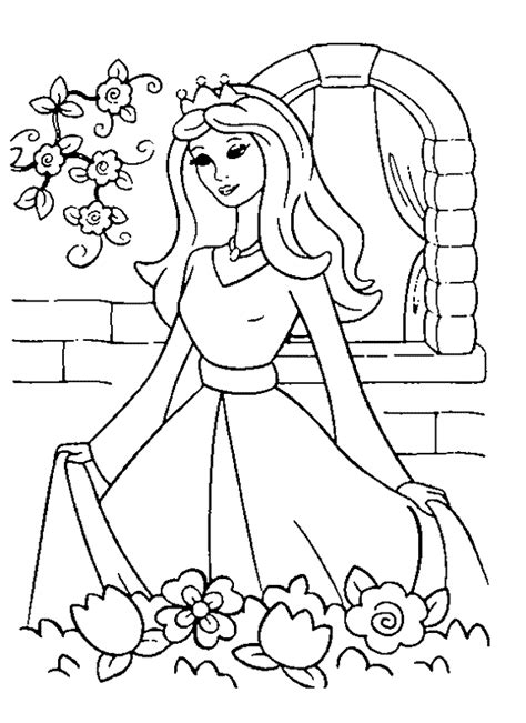 princess 5 coloring page amp coloring book