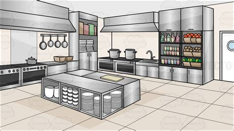 kitchen cartoon a kitchen restaurant background cartoon clipart vector toons