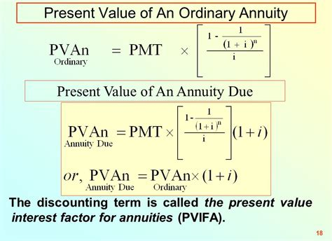 present value annuity factor table topic 03 tvm effective annual rate and annuities senior