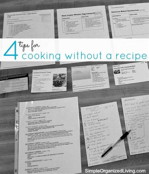 4 tips for cooking without a recipe andrea dekker