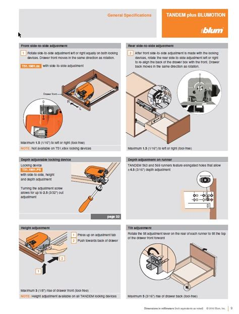 Blum Drawer Slides Specs by Blum 563f4570b N A 18 Quot Tandem Plus Blumotion Drawer Slide
