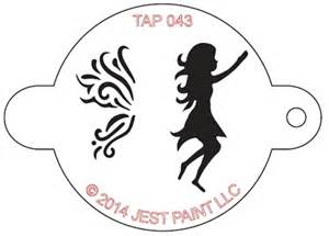 tap 043 face painting stencil fairy