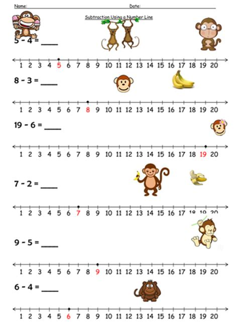 printable number line for subtraction addition worksheets 187 addition worksheets reception tes