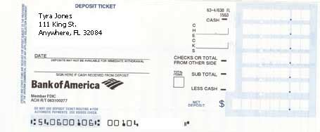 how to fill out a deposit ticket money basics managing a money and budgeting