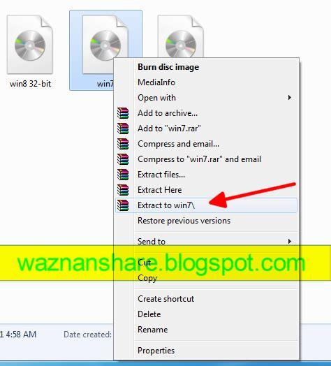 cara membuat file iso menggunakan rar cara extract file iso menggunakan winrar waznan share