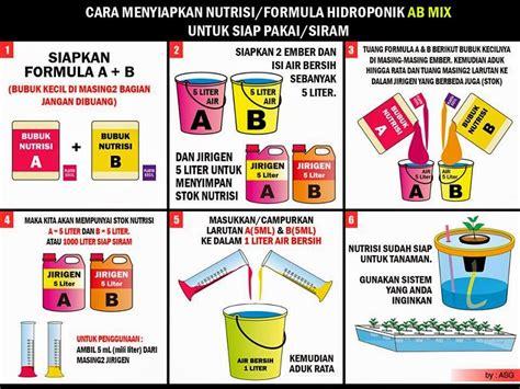 Nutrisi Hidroponik Ab Mix Yang Bagus nutrisi tanaman hidroponik yang wajib diberikan ke tanaman