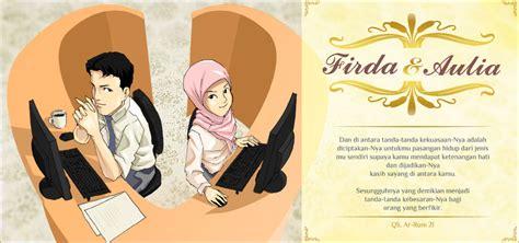 desain kartu undangan kartun 5 tema kartun favorit di undangan pernikahan contoh
