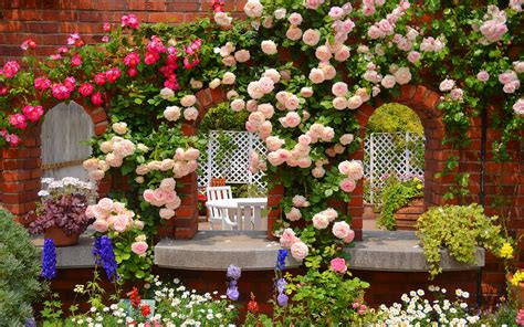rose themed landscape garden wallpapers best wallpapers