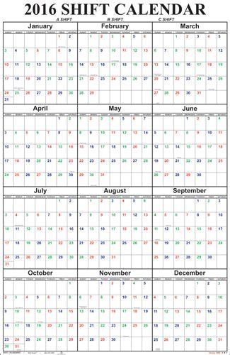 shift calendar template printable shift calendar calendar template 2018