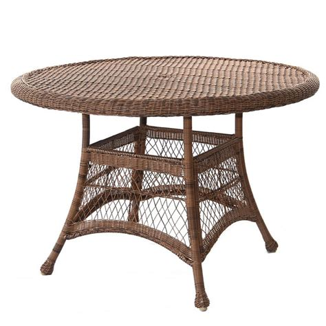 Resin Wicker Dining Table Outdoor 44 Quot Resin Wicker Patio Dining Table By Jeco Ebay