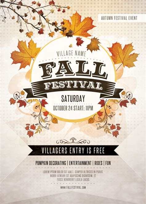 fall flyer template fall festival flyer template you can the psd
