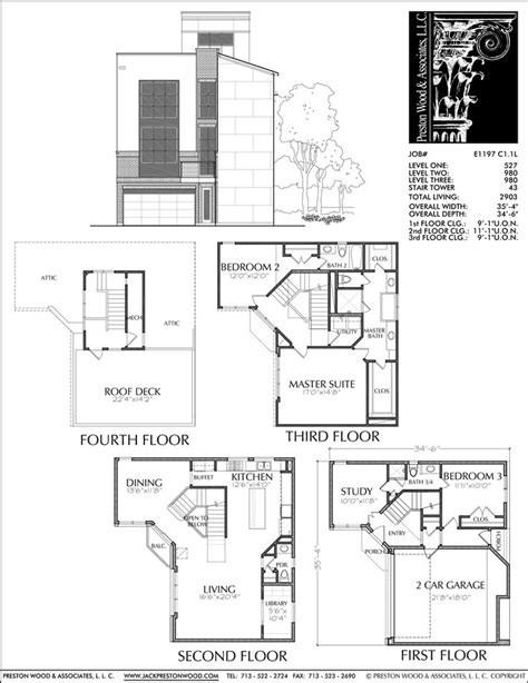 Town House Plan by 68 Best Townhouse Duplex Plans Images On