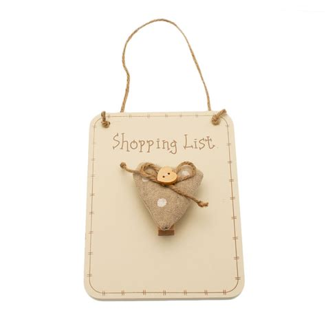 shabby chic heart shopping list from stylish gifts