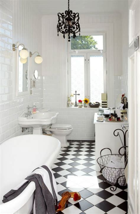 White And Black Tiles For Bathroom by 36 Black And White Vinyl Bathroom Floor Tiles Ideas And