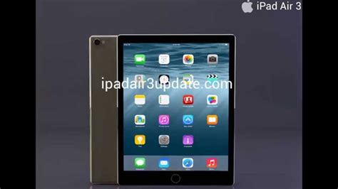 youtube layout ipad ipad air 3 concept design features 2015 youtube