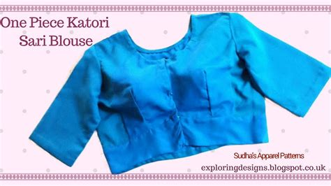 pattern making of katori blouse sudha s apparel patterns how to make single katori one