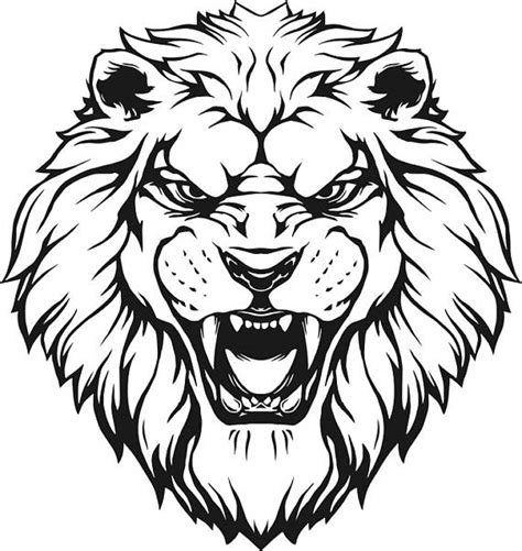 lion 7 head wild cat mascot company logo svg eps