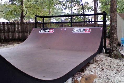 half pipe backyard
