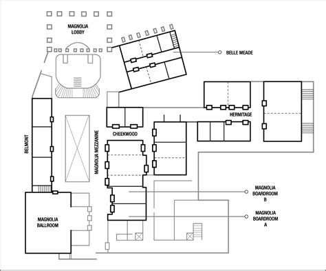 layout of opryland hotel business meeting venue in nashville at the gaylord