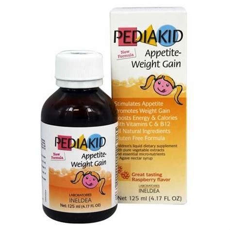Vitamin Weight Gain Pediakid Appetite Weight Gain Raspberry 125 Ml