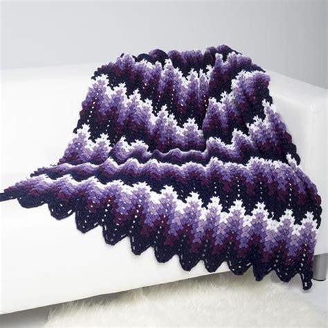 wave afghan in green and purple crochet throw blanket 25 best ideas about ripple crochet patterns on pinterest