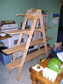 How To Make On A Shelf by Make Your Own Ladder Shelf For Your Craft Show Display