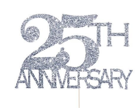 Wedding Cards Zahle by 25th Anniversary Decorations 25th Anniversary Cake Topper