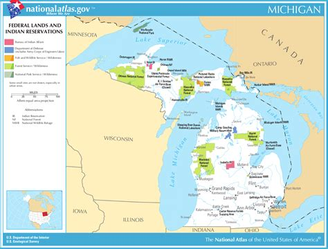 map of federally owned land in usa map of michigan map federal lands and indian reservations
