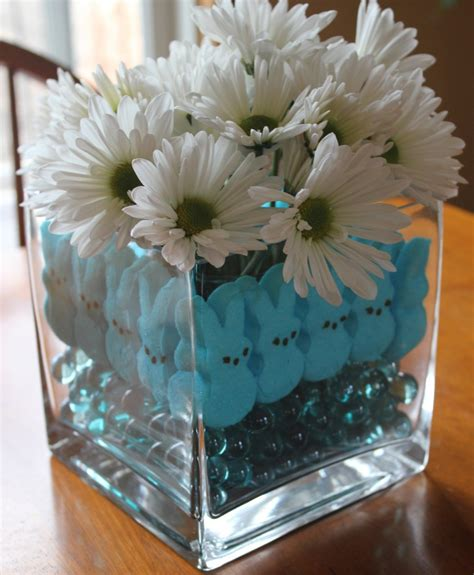 easter centerpieces to make marshmallow peeps craft easter centerpiece mommysavers