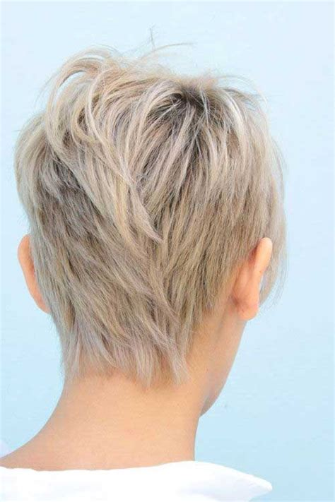 front and back views of chopped hair 10 choppy pixie haircuts pixie cut 2015