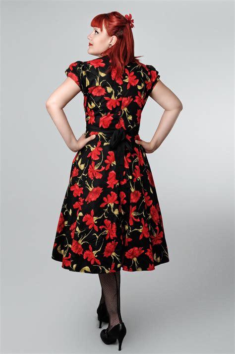 swing kleid blumen blumen rockabilly flower swing petticoat kleid