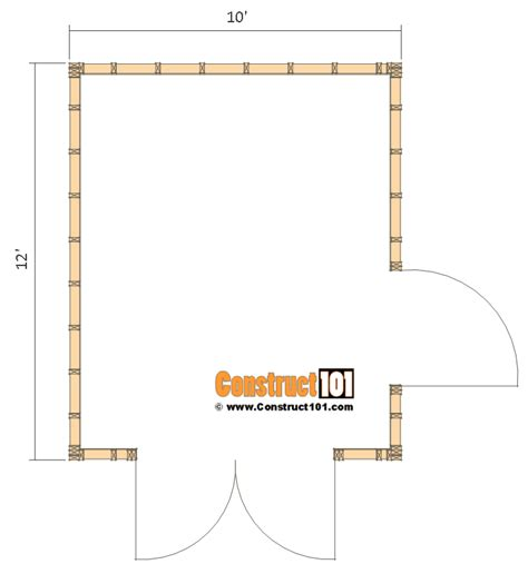 shed floor plan shed plans 10x12 gable shed step by step construct101