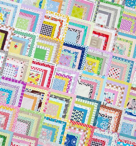 Quarter Quilting by Pepper Quilts Scrappy Quarter Log Cabin Quilt And