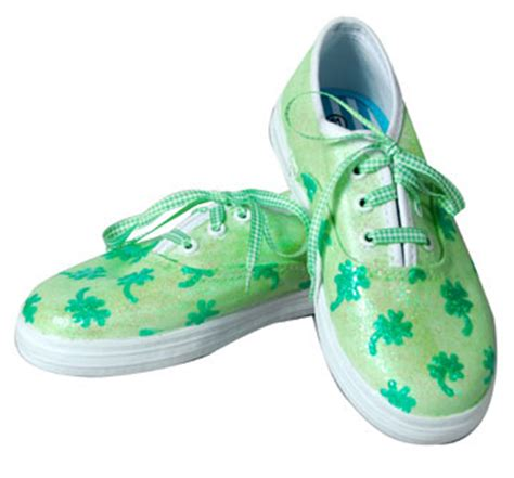 shamrock shoes lucky shamrock shoes for st s day favecrafts