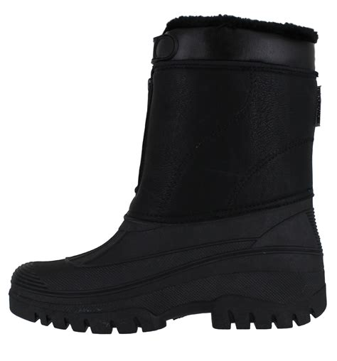 mens stable boots mens stable yard country waterproof winter snow front zip