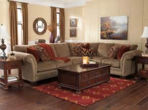 luxury living room with sectional with brown sofa home