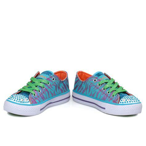 twinkle toes shoes skechers twinkle toes turquoise purple black tiger stripe