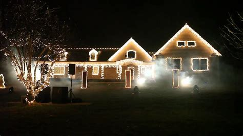 christmas light show in wall township youtube