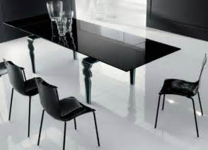 Black Glass Dining Room Table Modern Glass Dining Table Decobizz