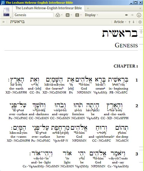 hebrew word order for the interlinear bible in logos 4