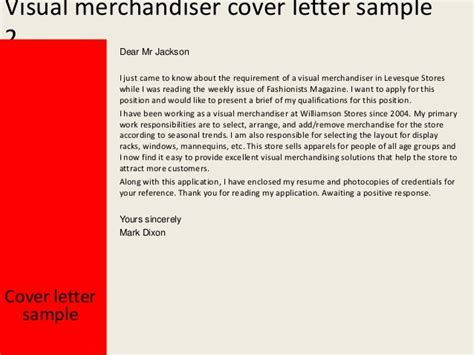 simple resume cover letter for a visual merchandiser apa