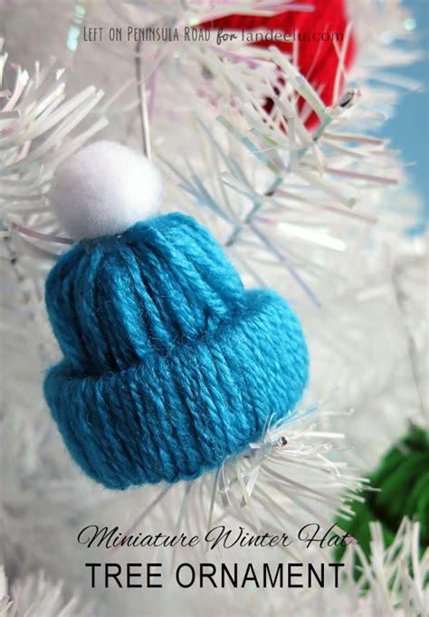 Easy Christmas Gift Crafts - winter hat tree ornament yarn craft landeelu com