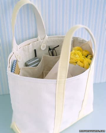 tote bag pattern martha stewart removable tote organizer step by step diy craft how to
