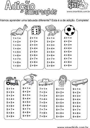 Atividade Matemática Tabuada Adição - Atividades - Smartkids