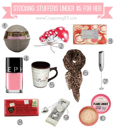 stocking ideas 10 stocking stuffer ideas for her for 5 or less