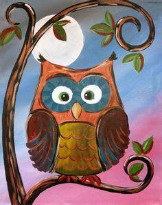 paint nite woodbridge owl painting on canvas owl original owl