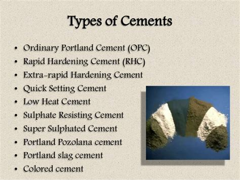 What Type Of Cement To Use For Concrete Countertops by Concrete Technology Unit I
