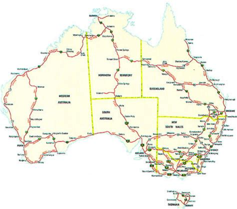 road map of eastern australia map of australia with cities and towns